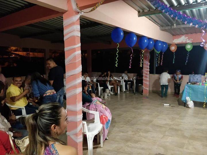 Área para la fiesta
