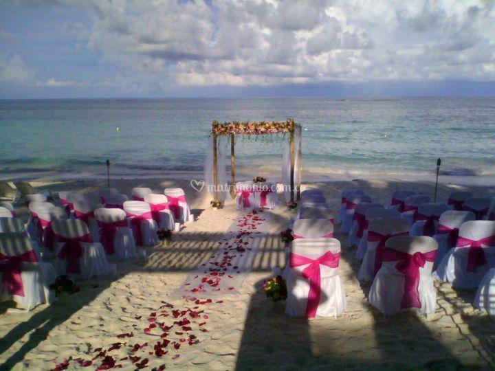 Celebración simbólica playa