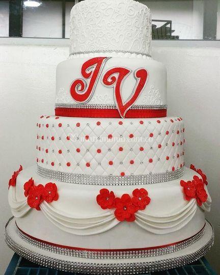 Torta para 100 porciones