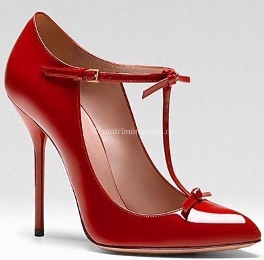 Stilettos en charol rojo