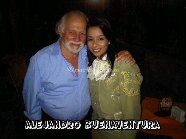 Con Alejandro Buenaventura
