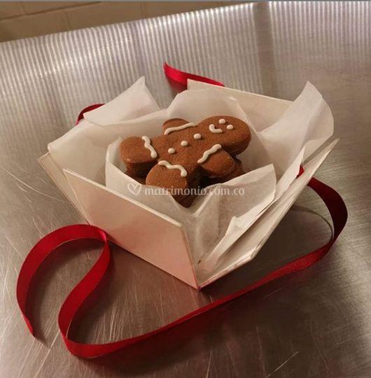 Galletas en caja de regalo