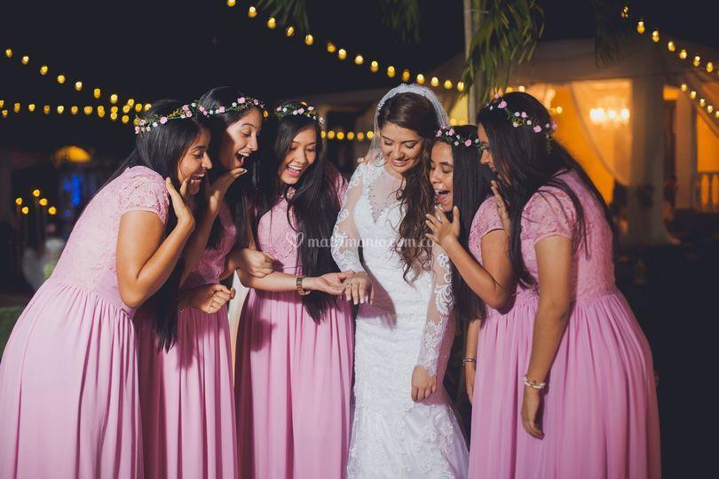 Amigas boda