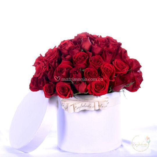 Rosas en caja deluxe