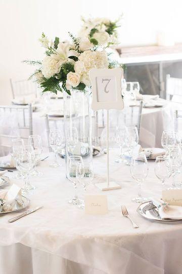 Centro mesa blanco