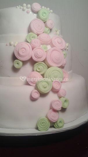 Torta para boda Vintage