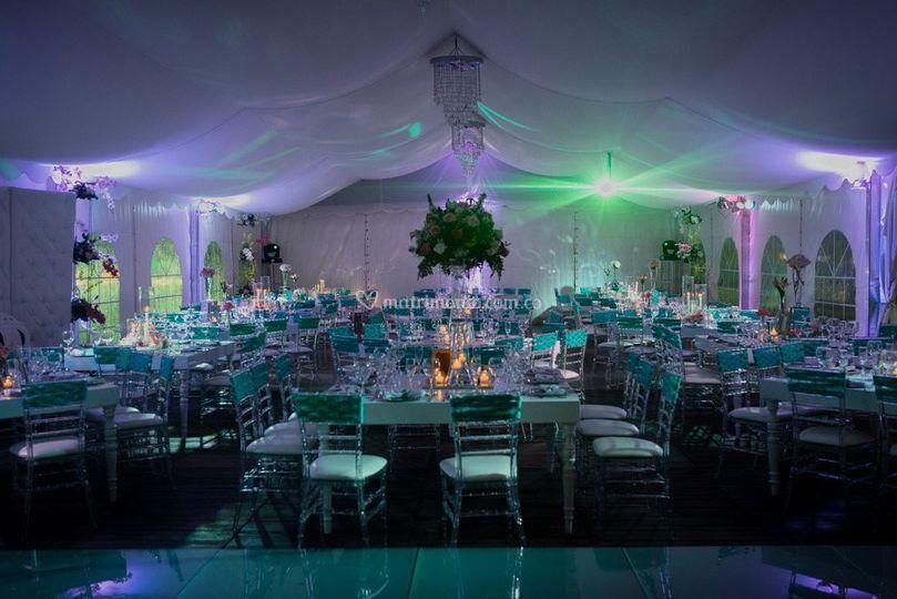 Decoración para 150 invitados