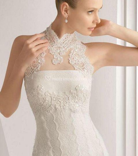 Vestido de novia con bordados