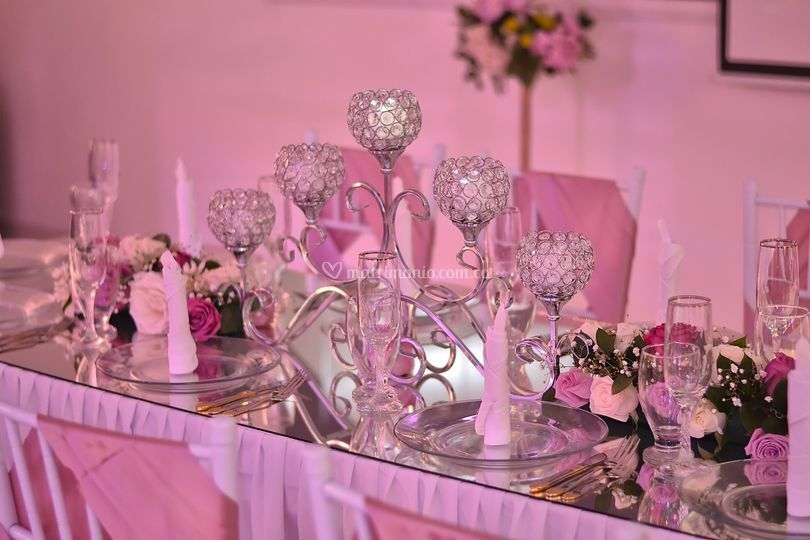 Mesa principal palo de rosa
