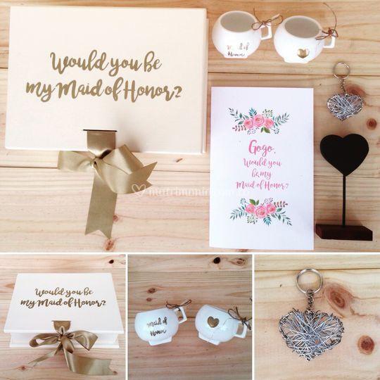 Caja de regalo para madrina