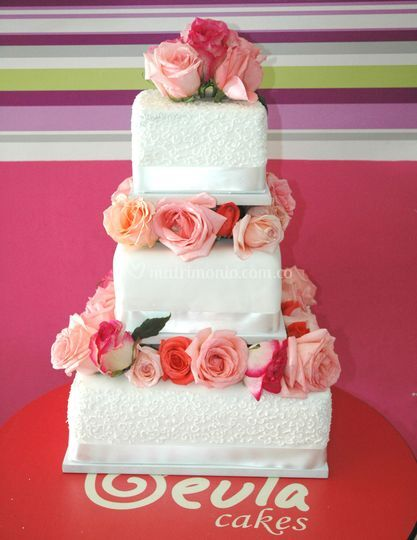 Torta rosas matrimonio
