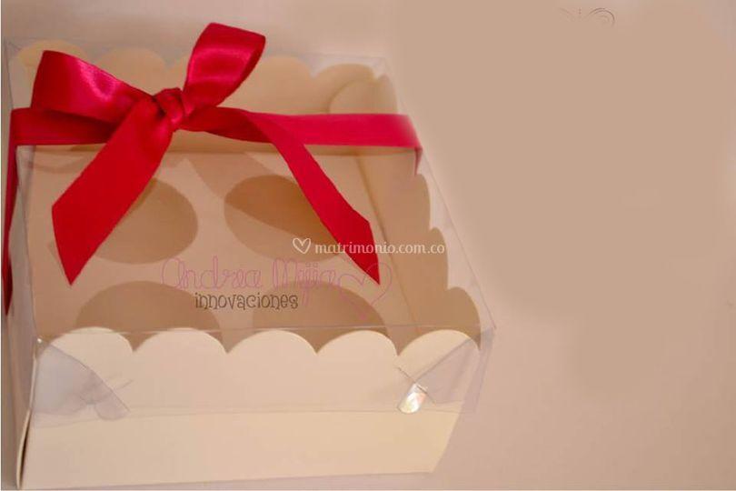Cajita para cupcakes