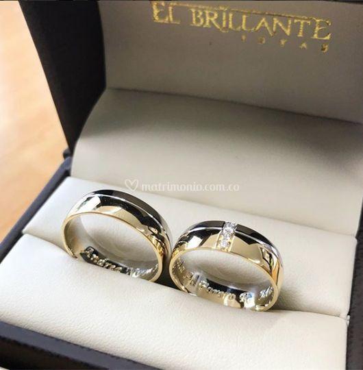 b0e9a71d6087 Argollas oro amarillo y blanco de El Brillante Joyas