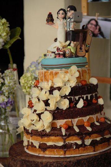 Torta Chocovainilla desnuda