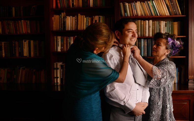 Momentos antes de la boda