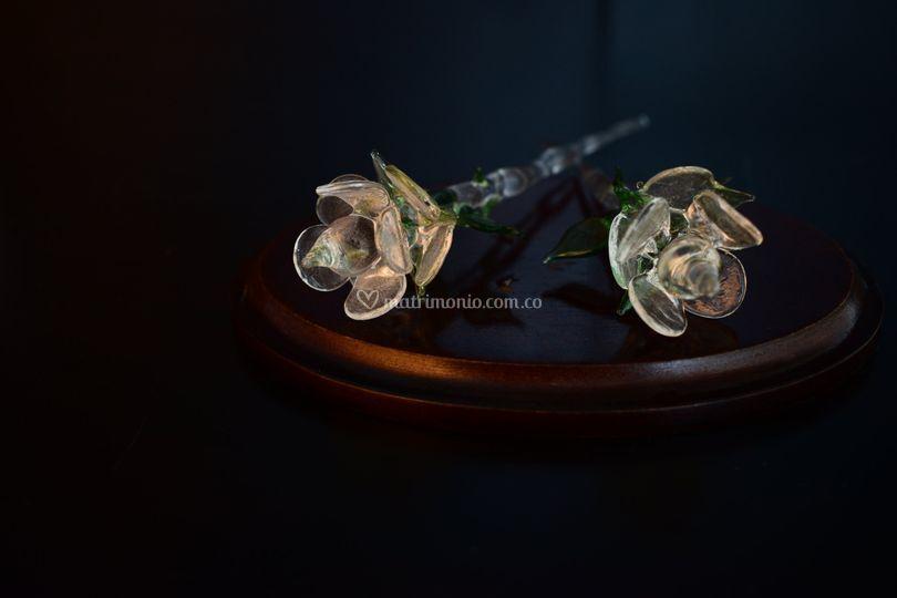 Rosas en cristal