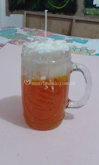 Vela cerveza aromatizada
