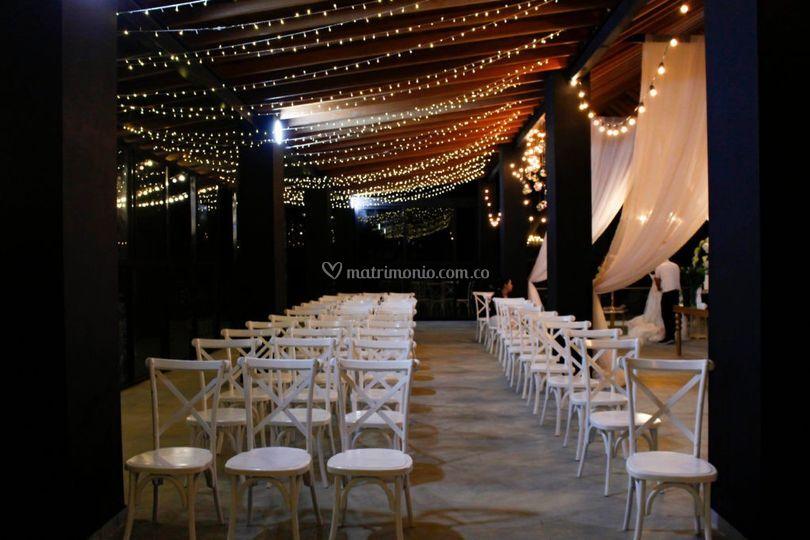 Terraza salón Orquideas