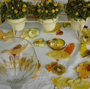 Decoración con frutas secas