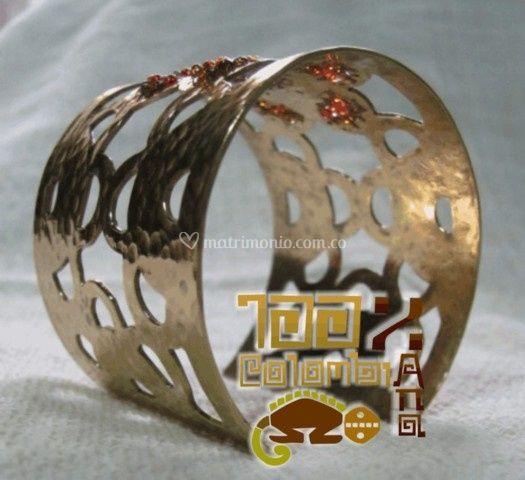 Brazalete en bronce baño oro