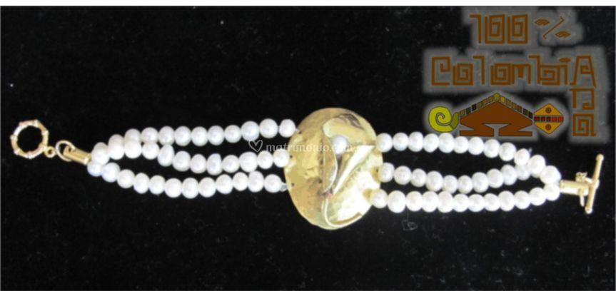 Pulsera en perlas