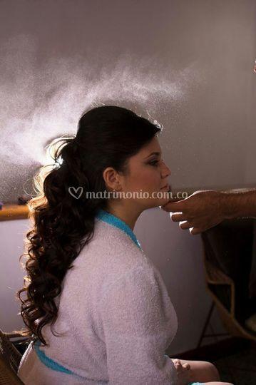 Sandra - novia en preparación
