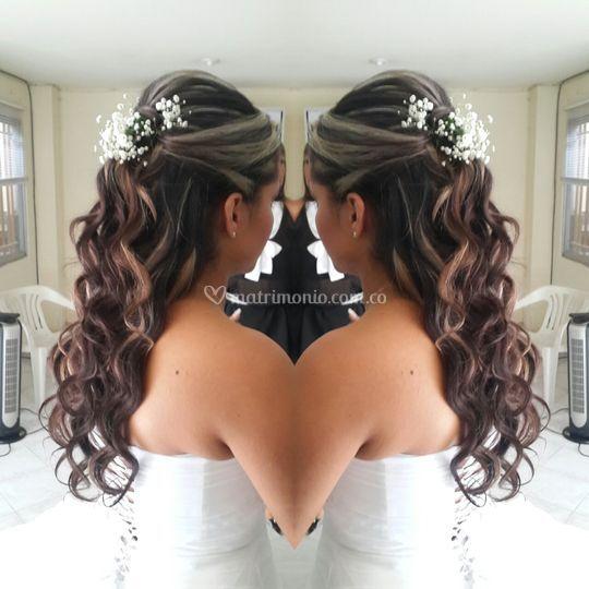 Peinado ondas novia