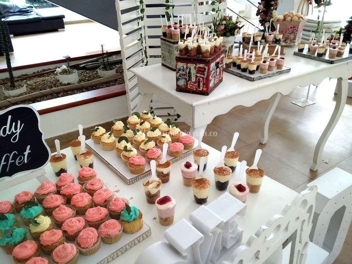 Cupcakes, macarons y postres