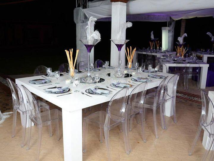 Mesa blanca 12 puestos
