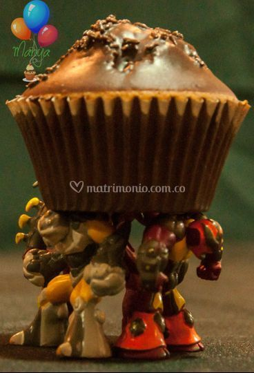 Cupcake chocolate y chispitas