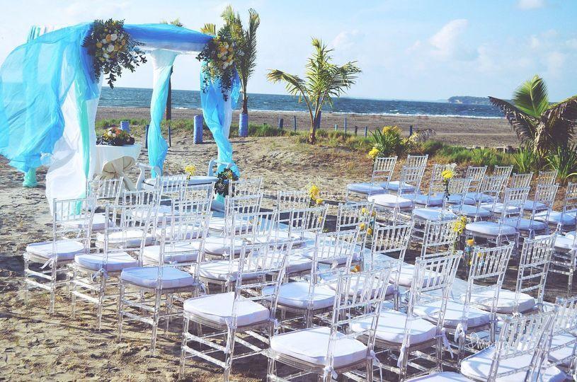 Decoración boda en cartagena