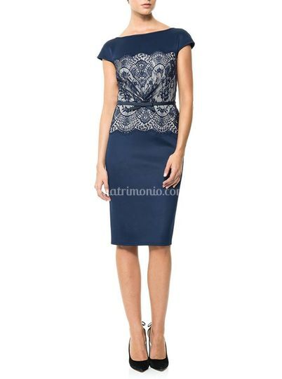 Navy Floral Dress Tadashi