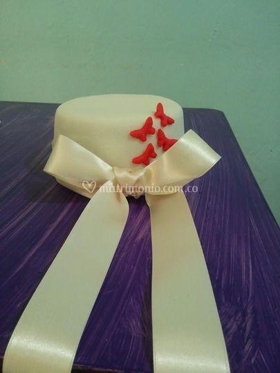 Torta para torre de cupcakes