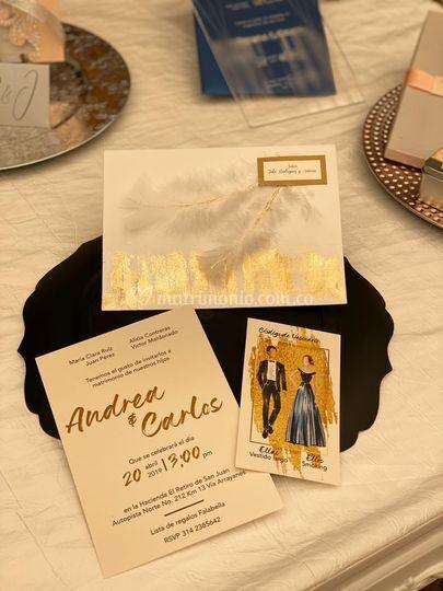 Interior de la tarjeta