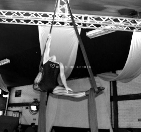 Danza aérea en telas