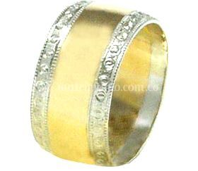 Aro combinado oro blanco y amarillo