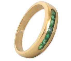 Aro matrimonio con esmeraldas