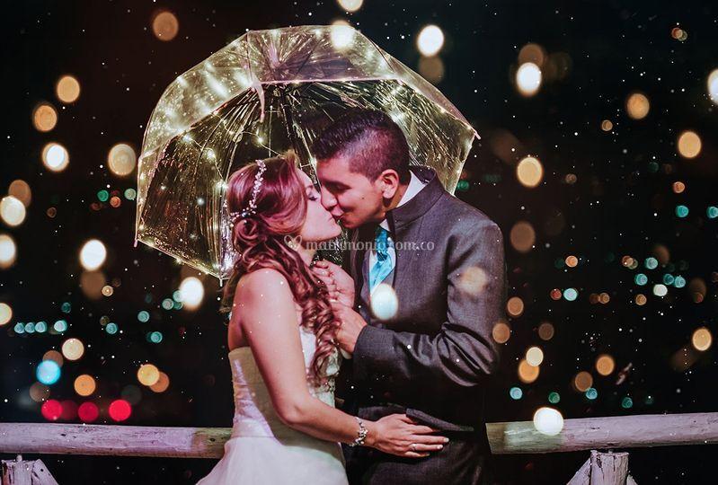 Lluvia y luz favorita