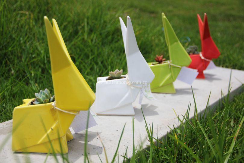 Conejos origami