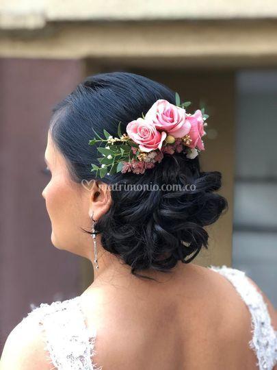 Peineta Flores Naturales