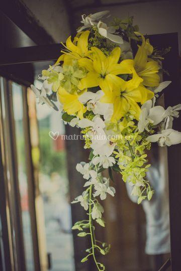 Bouquet en lirios y orquideas