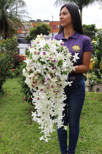 Bouquet en orquideas