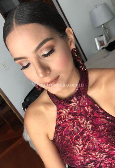 Detalle del maquillaje
