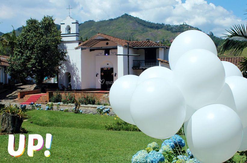 Hacienda fizebad globos
