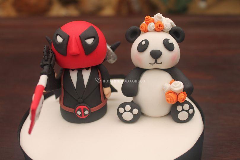 Cake Topper panda-súper héroe