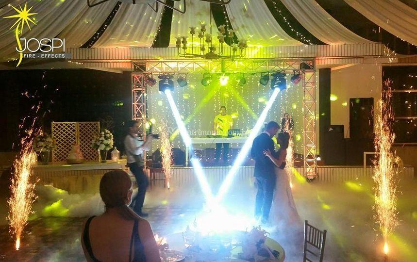 Efecctos para bodas de Jospi Fire - Fuegos artificiales