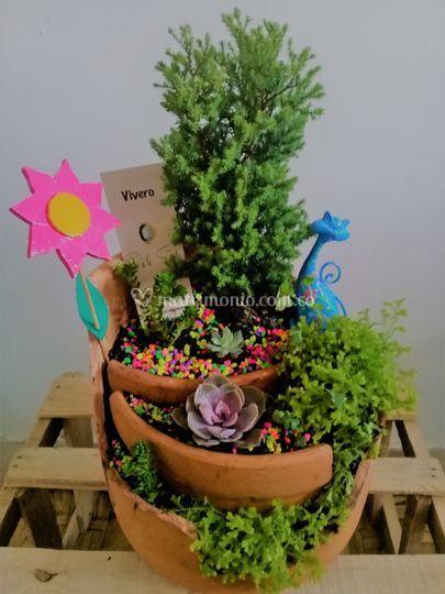 Mini jardín personalizado