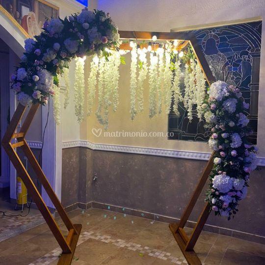 Hexágono boda Bogotá