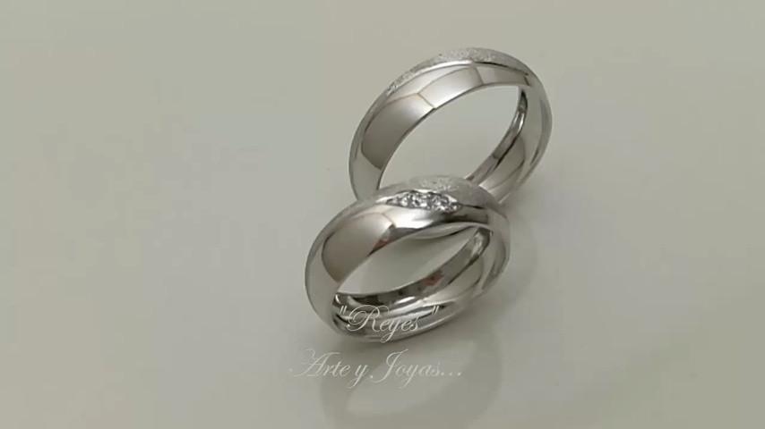 48f24e7e0aaa Anillos de matrimonio AM0087 - Reyes Arte y Joyas - Video - Matrimonio .com.co