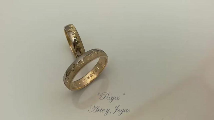 f63214914c1a Otros vídeos de Reyes Arte y Joyas. Anillos matrimonio AM0125 · Anillo  atlante · Anillos Linea de vida · Anillos de matrimonio oro y plata